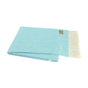 Image Turquoise Italian Herringbone Throw
