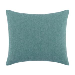 Image Teal Solid Herringbone Pillow
