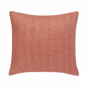 Spicy Orange Solid Herringbone Pillow image