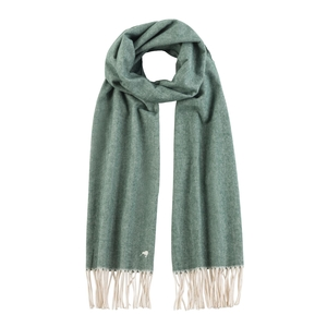 Image Bottle Green Herringbone Scarf