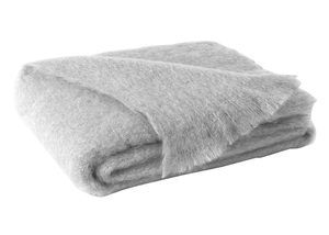 Image Silver Brushed Mohair Throw