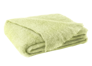 Image Honeydew Brushed Mohair Throw