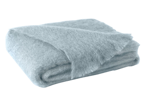 Image Glacier Blue Brushed Mohair Throw