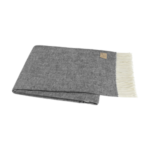 Image Graphite Italian Herringbone Throw