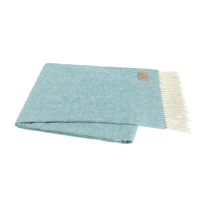 Image Blue Spruce Italian Herringbone Throw