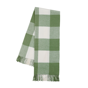 Image Olive Buffalo Check Throw