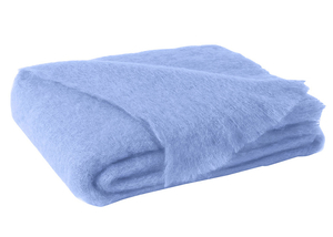 Image Sky Blue Brushed Mohair Throw