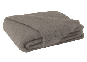 Image Ashwood Brown Brushed Mohair Throw