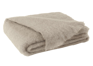 Image Flax Brushed Mohair Throw
