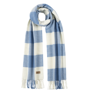Image Denim Cotton Blend Buffalo Check Scarf