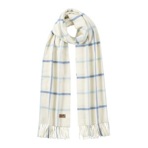 Image Denim & Baby Blue Cotton Blend Tattersall Plaid Scarf