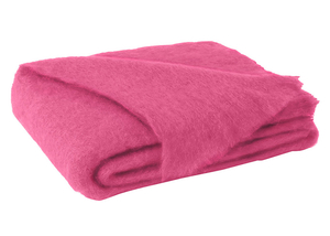 Image Hot Pink Brushed Mohair Throw