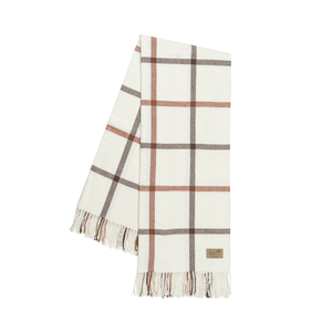 Image Cocoa and Copper Tattersall Plaid Throw