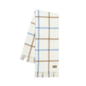 Image Caramel and Denim Tattersall Plaid Throw