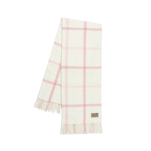 Image Blush and Pink Salt Tattersall Plaid Throw
