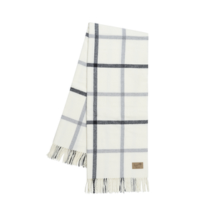 Image Light Gray and Graphite Tattersall Plaid Throw