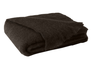Image Dark Chocolate Brushed Mohair Throw