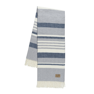 Image Blue and Light Gray Portside Italian Throw