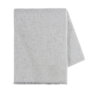 Image Light Gray Italian Luna Cashmere Throw
