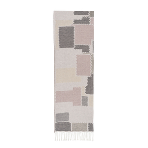 Image Pink Cobblestone Cotton Jacquard Throw