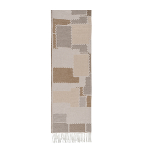 Image Taupe Cobblestone Cotton Jacquard Throw