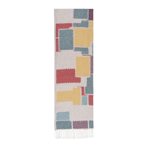 Image Multi Color Cobblestone Cotton  Jacquard Throw
