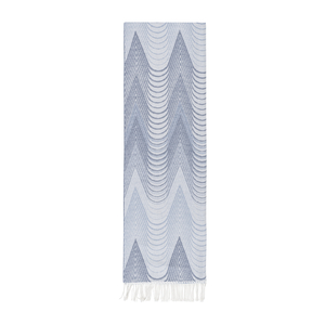 Image Blue Deco Cotton Jacquard Throw