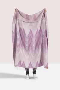 Image Pink Deco Cotton Jacquard Throw