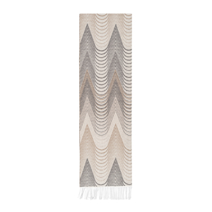 Image Taupe Deco Cotton Jacquard Throw