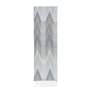 Image Gray/Teal Deco Cotton Jacquard Throw