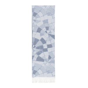 Image Blue Mosaic Cotton Jacquard Throw