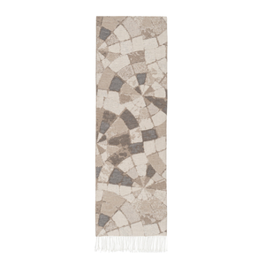 Image Taupe Mosaic Cotton Jacquard Throw