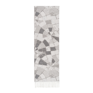 Image Light Gray Mosaic Cotton Jacquard Throw