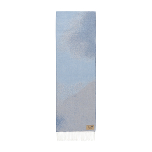 Image Blue Ombré Cotton Jacquard Throw