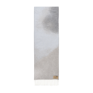 Image Light Gray Ombré Cotton Jacquard Throw
