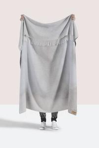 Image Light Gray Ombré Cotton Jacquard Throw