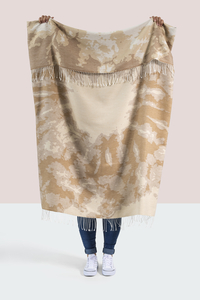 Image Gold Tie Dye Cotton Jacquard Throw