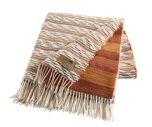 Image Orange Strato Italian Blanket